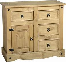 corona 1 door 4 drawer sideboard distressed waxed pine