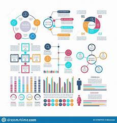 Examples Of Charts Graphs And Diagrams Infographic Elements Modern Infochart Marketing Chart