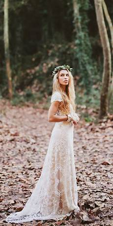extremely bohemian wedding dresses with style