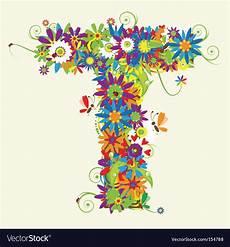 flower wallpaper letter letter t floral design royalty free vector image