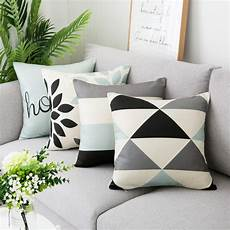 Sofa Pillows 18x18 Set Of 4 3d Image by Wendana Throw Pillow Cases Decorative Soft Square