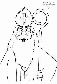 Ausmalbild Bischof Nikolaus Ausmalbilder Nikolaus Kostenlos Malvorlagen Zum