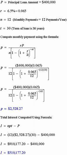 Amortization Math Formula Amortization Formulas Math Calculators