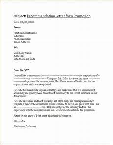 Letter Of Recommendation For Promotion Recommendation Letter For A Promotion Letter Of