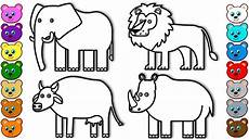 Animals Coloring Coloring For Kids With Animals Of India Colouring Book