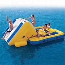 Floating Slide Super Water Slide N Lounge Island