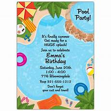 Pool Party Invitations Wording Backyard Pool Party Invitations Paperstyle