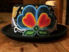 ojibwe floral hat by adam avery beaded hat beaded hat