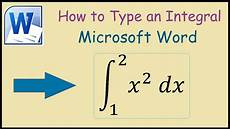 In Words How To Write An Integral In Microsoft Word 2010 Youtube