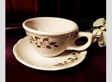 Buffalo China Restaurant Ware Dogwood Pattern Cup and Saucer