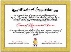 Text For Certificate Of Recognition Appreciation Here Is Our Free Appreciation Certificate