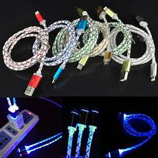 Usb Led Light Ebay Led Light Up Usb Charger Retractable Cable For Apple