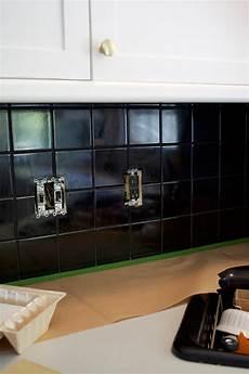 black kitchen backsplash how to paint your tile backsplash brepurposed