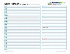 Day Planner Calendar Template 2018 Family Day Planner Free Printable Templates