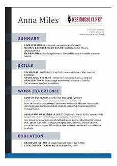 What Is A Job Resume What Your Resume Should Look Like In 2017 Resume