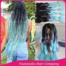 Light Blue Braiding Hair Stock Cheap Price 20 Quot Folded Ombre Black Light Blue