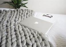 diy arm knitted cosy chunky blanket made up style