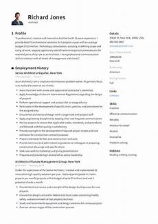 Architectural Project Manager Resume Architect Resume Sample Amp Writing Guide Resumeviking Com