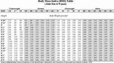 Bsa Weight Chart 8 Bmi Chart Free Download