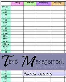 Time Management Schedule Template Printable Schedule Alyssa