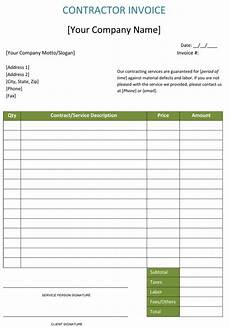 Construction Invoices Free Construction Invoice Template 5 Contractor Invoices