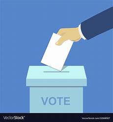 Voting Box Voting Concept Hand Putting Paper The Ballot Box Vector Image