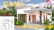 2 Bedroom Flat Floor Plans House Plans 10 7x10 5 With 2 Bedrooms Flat Roof Shoas