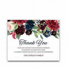 Condolences Thank Yous Sympathy Thank You Notes Funeral Guests Watercolor Florals