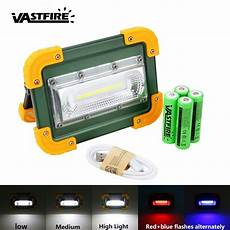 Rechargeable Outdoor Security Light 30w Cob Led Portable Flood Light Usb Rechargeable Outdoor