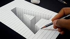 Drawing 3d Easy Drawing How To Draw 3d Hole Letter A Shape In Line