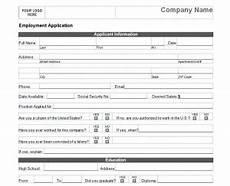 Basic Application Forms Basic Job Application Basic Job Application Form
