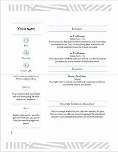Resume Templates For Google Docs 10 Google Docs Resume Template In 2020 Download Best Cv