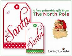 Santa Tag Free Printable Real Santa Gift Tags 24 7