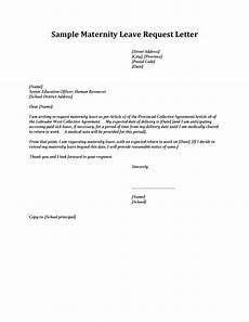 Sample Of Maternity Leave Letter For Employer 8 Maternity Leave Letter Templates Pdf Word Free