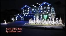Carol Of The Bells Light Show Amazing Christmas Light Show Carol Of The Bells