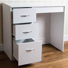 riano 3 drawer dressing table white makeup desk wooden