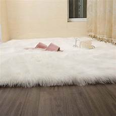 wendana faux fur rug white soft fluffy rug shaggy rugs