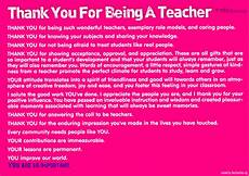 Thank You Letter To A Teacher Thank You For Being A Teacher Poster