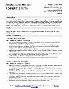 Area Manager Resumes Area Manager Resume Samples Qwikresume