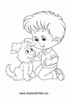 ausmalbilder mit hund kinder malvorlagen