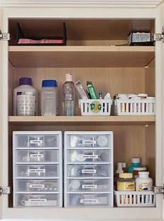 medicine cabinet organization just a