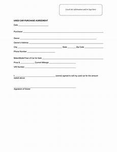Used Vehicle Purchase Agreement 42 Printable Vehicle Purchase Agreement Templates ᐅ