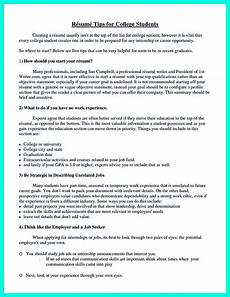 How Do You Do A Resumes Best College Student Resume Example To Get Job Instantly