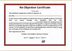 Sample Of No Objection Letter From Employer 15 No Objection Certificate Templates With Images
