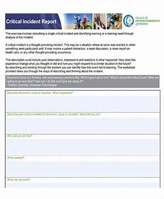 Odjfs Incident Report 42 Free Incident Report Templates Pdf Word Free