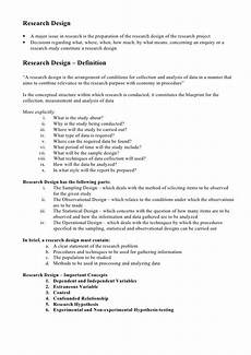 An Example Of A Research Design Research Design