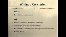 A Conclusion To An Essay Informational Essay Conclusion 1314 Youtube