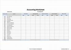 Free Excel Templates For Accounting Accounting Worksheet Template Double Entry Bookkeeping