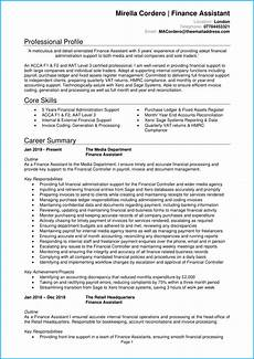 Finance Assistant Cv Sample Finance Assistant Cv Example Writing Guide Stand Out