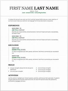 Microsoft Word Job Resume Template 11 Free Resume Templates You Can Customize In Microsoft
